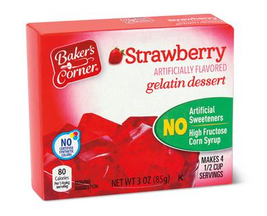 Baker's Corner Strawberry Gelatin