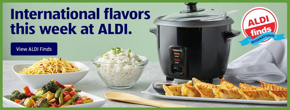 International flavors this week at ALDI. View ALDI Finds.