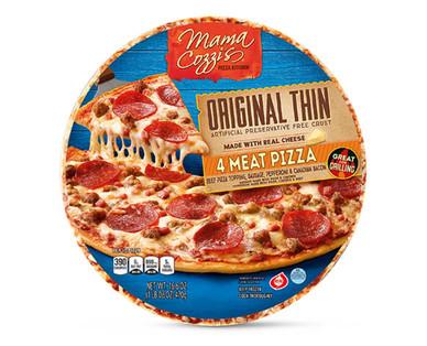 Mama Cozzi's Pizza Kitchen Original Thin Crust Four Meat Pizza