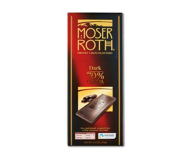 Moser Roth Premium Dark Chocolate, 70 Percent Cocoa