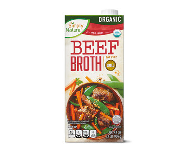 Simply Nature Organic Beef Broth
