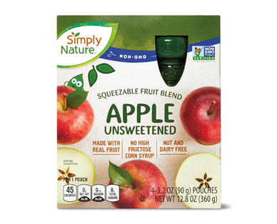 Simply Nature Unsweetened Apple Fruit Squeezies
