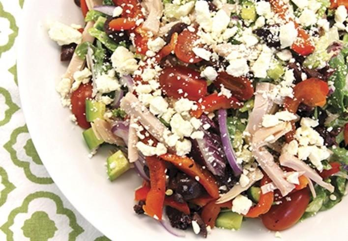 Mediterranean Turkey Chop Salad