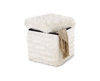 SOHL Furniture Foldable Storage Ottoman View 4