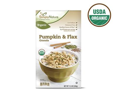 SimplyNature Organic Pumpkin & Flax Granola