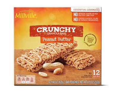 Millville Crunchy Granola Bars - Peanut Butter