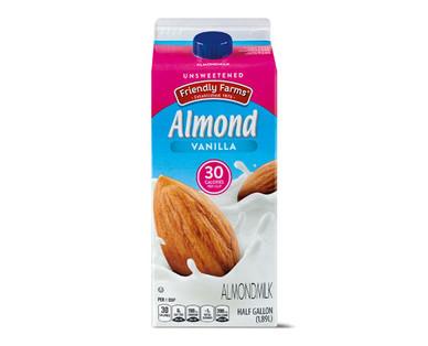 Friendly Farms Unsweetened Vanilla Almondmilk