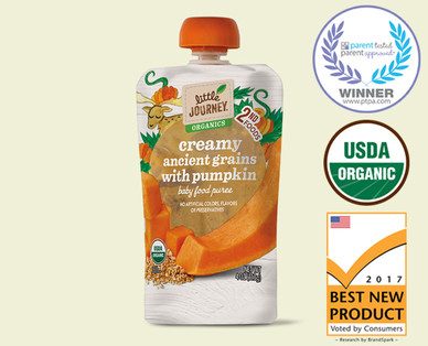 Little Journey Organic Creamy Ancient Grains with Pumpkin Puree