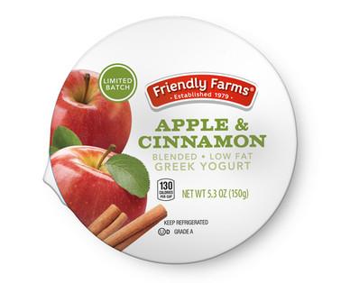 Friendly Farms Apple & Cinnamon Lowfat Greek Yogurt