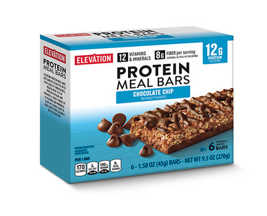 Elevation by Millville Chocolatey Chip Protein Meal Bars
