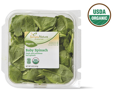 SimplyNature Organic Baby Spinach