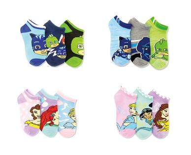 Licensed Toddler and Children's 3-Pack Socks View 4