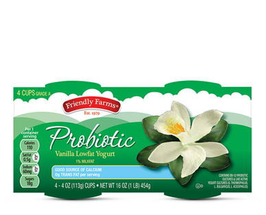 Friendly Farms Lowfat Probiotic Vanilla Yogurt