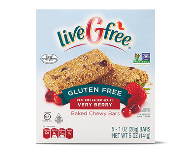 liveGfree Gluten Free Very Berry Baked Chewy Bars