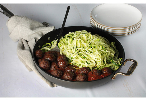 Meatless Meatballs with Zucchini Noodles