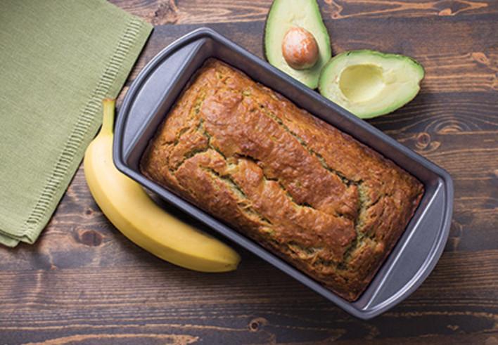 Coconut Oil Avocado-Banana Bread