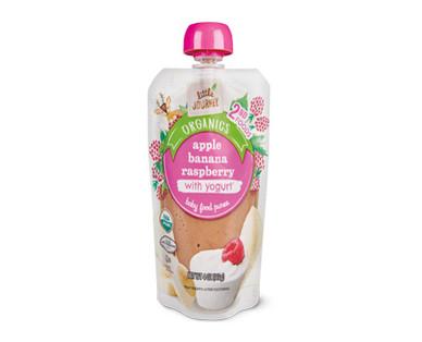 Little Journey Apple Banana Raspberry Yogurt Baby Food Puree