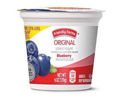 Friendly Farms Original Blueberry Lowfat Yogurt