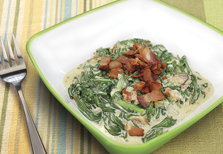Bacon Creamed Spinach