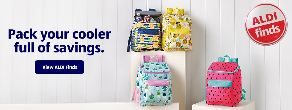 Pack your cooler full of savings. View ALDI Finds.