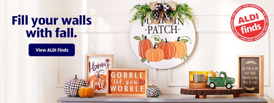 Fill your walls with fall. View ALDI Finds.