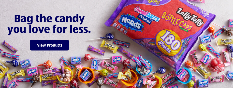 Bag the candy you love for less. View Products.