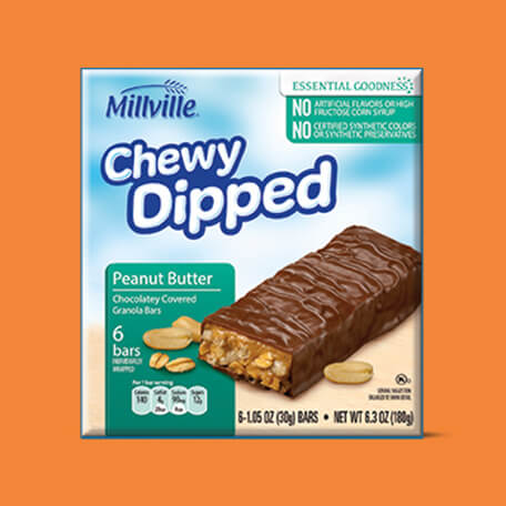 Millville Chewy Dipped Granola Bars