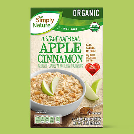 Simply Nature Organic Apple Cinnamon Instant Oatmeal