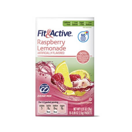 Fit & Active® Raspberry Lemonade Drink Mix Sticks