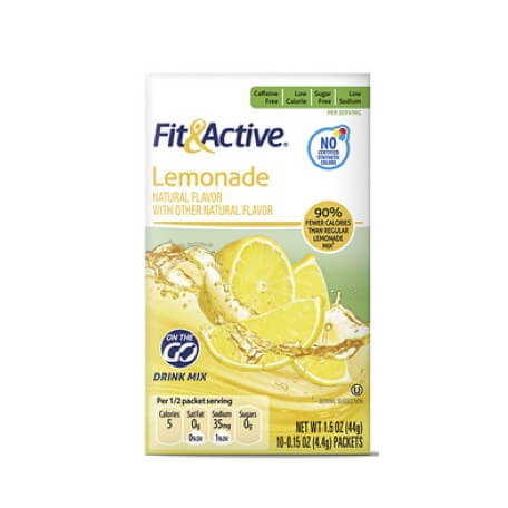 Fit & Active® Lemonade Drink Mix Sticks
