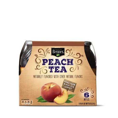 Benner Peach Tea or Diet Peach Tea 6 Pack