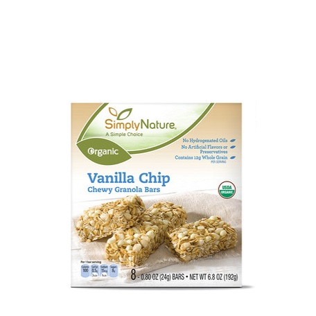 Simply Nature Organic Vanilla Chip Chewy Granola Bars