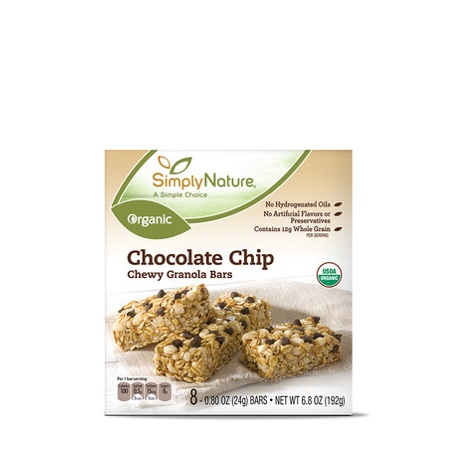 Simply Nature Organic Chocolate Chip Chewy Granola Bars