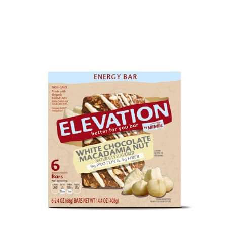Elevation by Millville White Chocolate Macadamia Nut Energy Bars