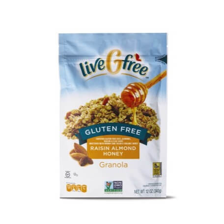 liveGFree Gluten Free Raisin Almond Honey Granola