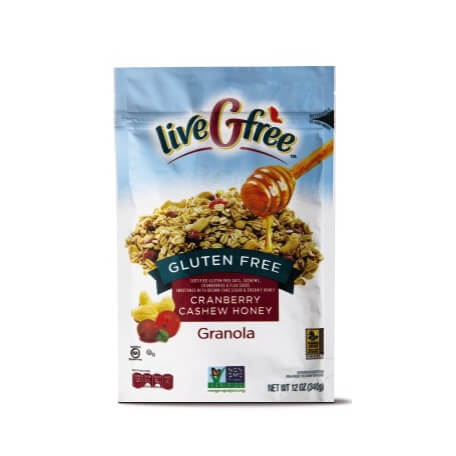 liveGFree Gluten Free Cranberry Cashew Honey Granola
