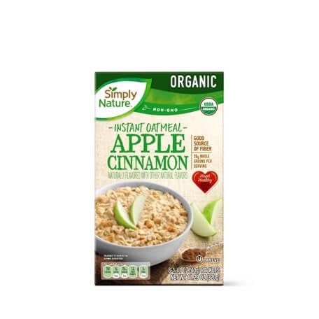 Simply Nature Organic Apple Cinnamon Instant Oatmeal