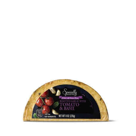 Specialty Selected Roasted Garlic With Tomato & Basil Hand-Crafted Cheese