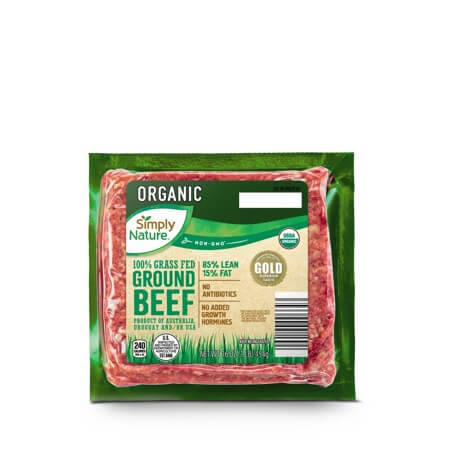 Simply Nature Organic 100% Grass Fed 85/15 Ground Beef