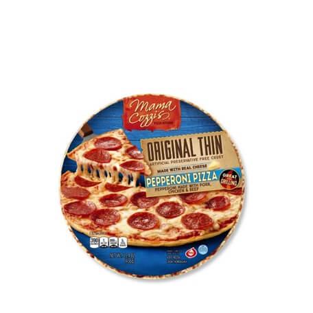 Mama Cozzi's Pizza Kitchen Original Thin Crust Pepperoni Pizza
