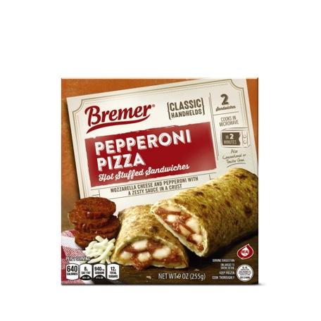 Bremer Stuffed Sandwiches Pepperoni or Ham & Cheese