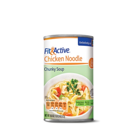 Fit & Active® Chicken Noodle Chunky Style Soup