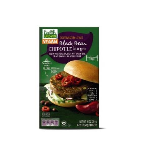 Earth Grown Black Bean Chipotle Burger