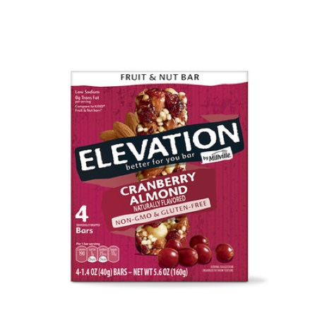 Elevation by Millville Cranberry Almond Fruit & Nut Bars