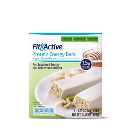 Fit & Active® Yogurt Honey Peanut Protein Energy Bars