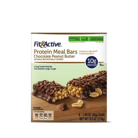 Fit & Active® Chocolate Peanut Butter Protein Meal Bars