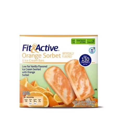 Fit & Active® Orange Sorbet Ice Cream Bars