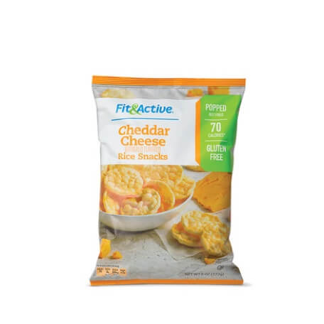 Fit & Active® Cheddar Cheese Rice Snacks