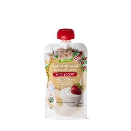 Little Journey Apple Banana Strawberry Yogurt Baby Food Puree