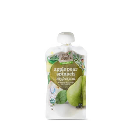 Little Journey Apple Pear Spinach Baby Food Puree